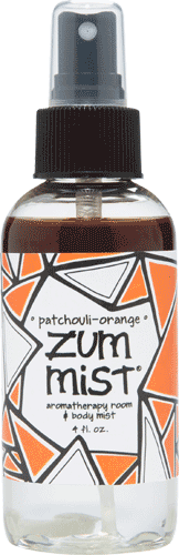 Aromatherapy, Zum Mist® Patchouli Orange Body Mist (4 oz Pump Bottle)