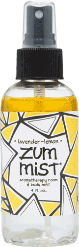 Aromatherapy, Zum Mist® Lavender-Lemon Body Mist (4 oz Pump Bottle)