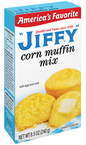 Muffin Mix, Jiffy® Corn Muffin Mix (8.5 oz Box)