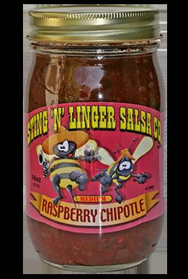 Salsa, Sting 'N' Linger® Medium Raspberry Chipolte Salsa (16 oz Jar)