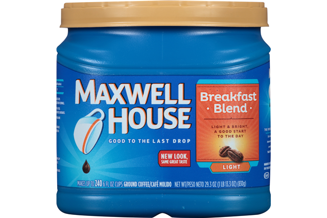 Ground Coffee, Maxwell House® Breakfast Blend® Ground Coffee (25.6 oz Tub)