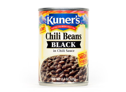 Canned Beans, Kuner's® Black Chili Beans (15.5 oz Can)