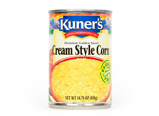 Canned Corn, Kuner's® Cream Style Corn (14.75 oz Can)