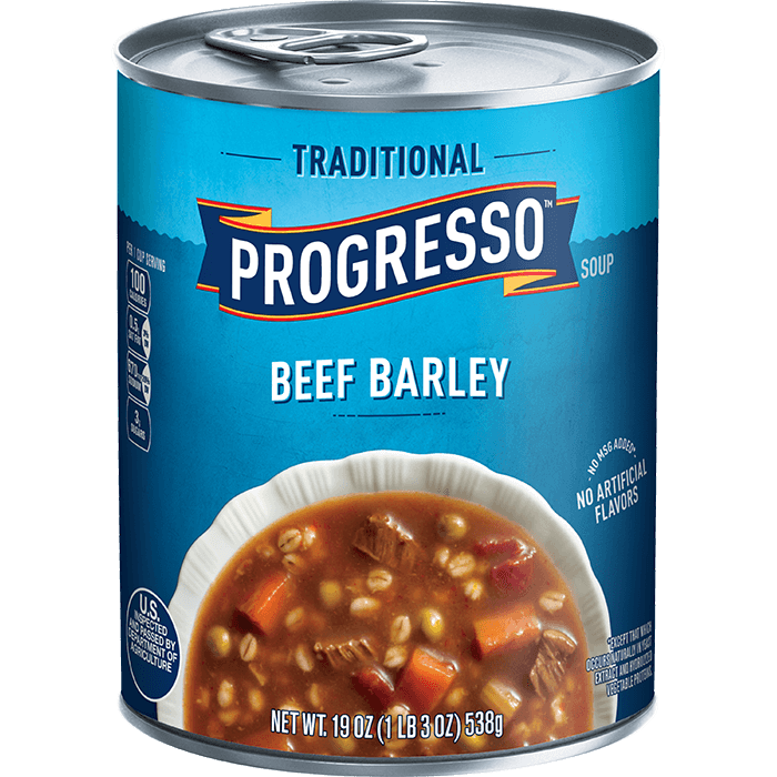 """Canned Soup, Progresso® """"Traditional"""" Beef Barley Soup (19 oz Can)"""