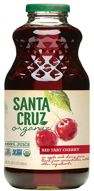 Juice Drink, Santa Cruz® Organic Red Tart Cherry (32 oz Bottle)