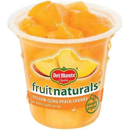 Fruit, Del Monte® Fruit Naturals® Yellow Cling Peach Chunks (7 oz Cup)