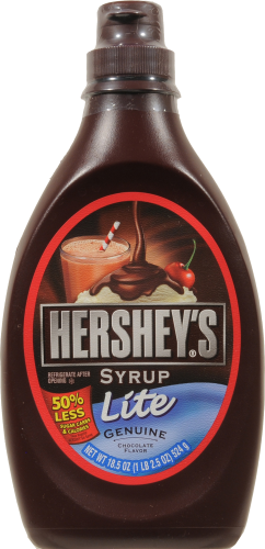 Chocolate Syrup, Hershey's® Lite Chocolate Syrup (18.5 oz Bottle)