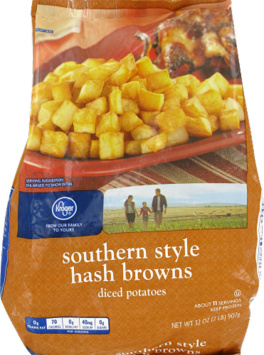 Frozen Potatoes, Kroger® Southern Style Shredded Hash Browns (32 oz Bag)