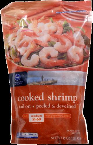 Frozen Shrimp, Kroger® Tail on Cooked Shrimp (1 Pound = 16 oz Bag)