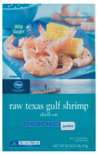 Frozen Shrimp, Kroger® Texas Jumbo Gulf Shrimp (1 Pound = 16 oz Box)