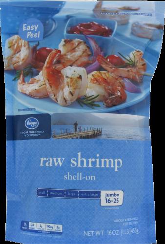 Frozen Shrimp, Kroger® Shell-On Raw Shrimp (1 Pound = 16 oz Bag)