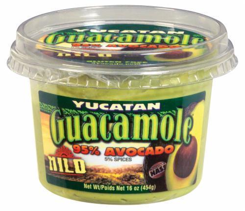 Guacamole Dip, Yucatan® Dip, 95% Avocado Mild Guacamole Dip (16 oz Tub)