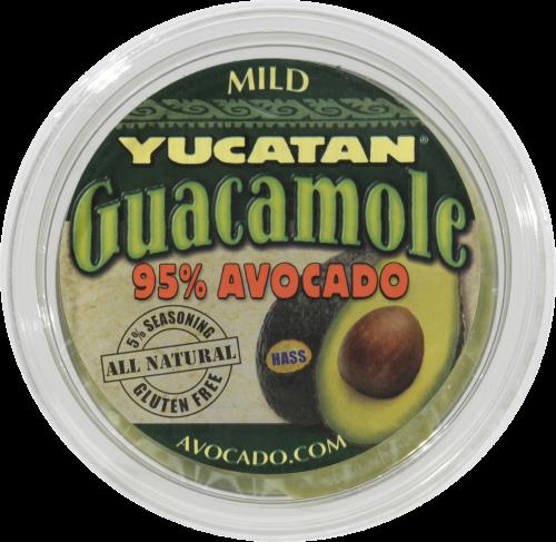Guacamole Dip, Yucatan® 95% Avocado Mild Guacamole Dip (8 oz Tub)