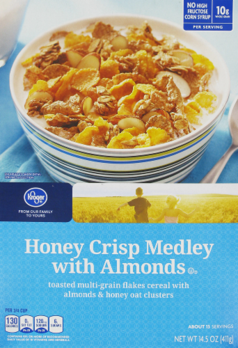 Honey Bunches of Oats with Almonds, 14.5-Ounce Box