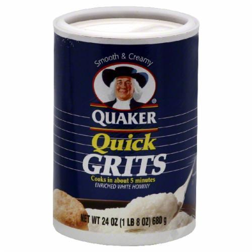 Grits, Quaker® Quick White Grits (24 oz Tube)