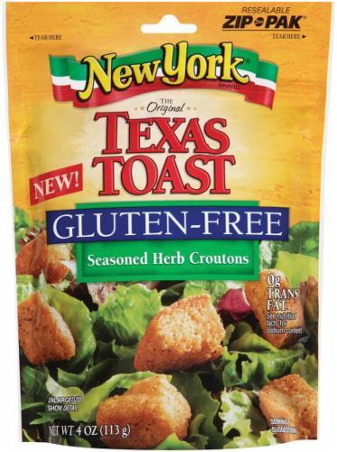 Salad Croutons, New York Texas Toast® Gluten Free Croutons (5 oz Bag)