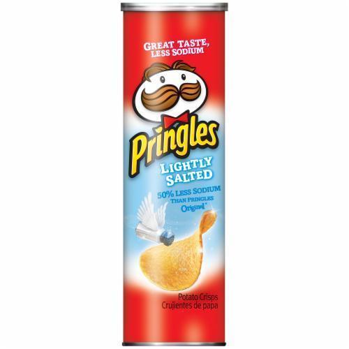 Potato Chips, Pringles® Lightly Salted Potato Chips (5.68 oz Can)