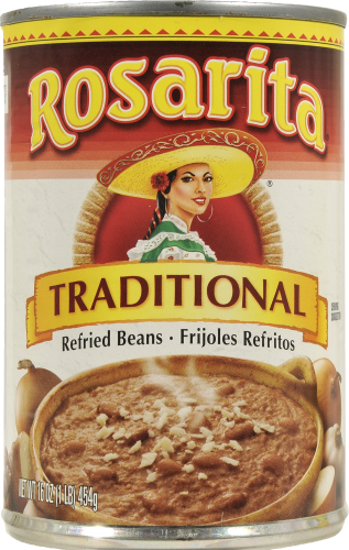 "Canned Refried Beans, Rosarita® ""Traditional"" Refried Pinto Beans (16 oz Can)"