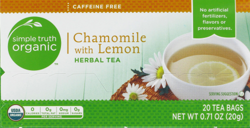 Tea, Simple Truth Organic™ Chamomile with Lemon (20 Bags, 1.4 oz Bags)