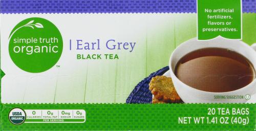 Tea, Simple Truth Organic™ Earl Grey Black Tea (20 Bags, 1.41 oz Bags)