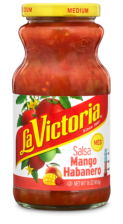 Salsa, La Victoria® Medium Mango Habanero Salsa (16 oz Jar)