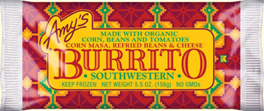 Frozen Burrito, Amy's® Southwestern Burrito (6 oz Bag)