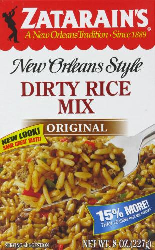 Rice, Zatarain's® New Orleans Style Dirty Rice Mix (8 oz Box)