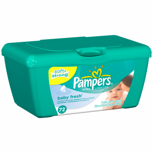 Baby Wipes, Pampers® Baby Fresh Wipes (72 Count Tub)