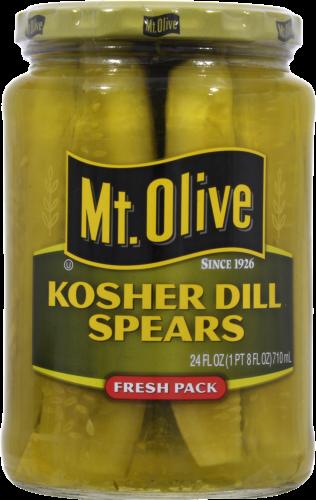 Preserved Pickles, Mt Olive® Kosher Dill Pickle Spears (24 oz Jar)
