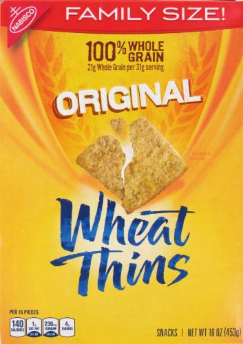 "Crackers, Nabisco® Wheat Thins® ""Original"" Crackers (16 oz Box)"
