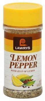 Seasonings, Lawry's® Lemon Pepper Seasoning (2.25 oz Jar)