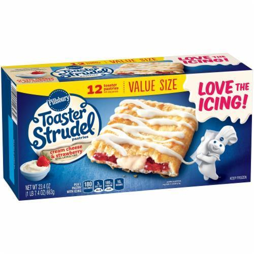 Strudel, Pillsbury® Strawberry Toaster Strudel (12 count, 23.4 oz Box)