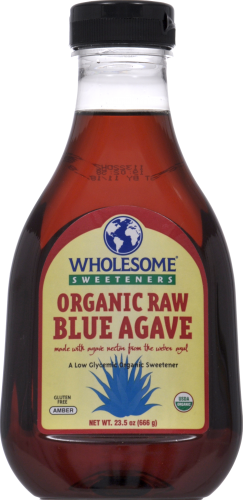 Agave, Wholesome Sweeteners® Organic Raw Blue Agave (23.5 Oz Bottle)