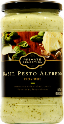 Alfredo Pasta Sauce, Private Selection® Basil Pesto Alfredo Cream Sauce (16.9 oz Jar)