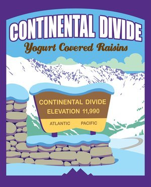 Snack, Rocky Mountain Treats® Continental Divide™ Yogurt Covered Raisins (8 oz Bag)