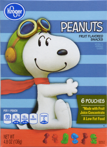 Snack, Kroger® Peanuts™ Assorted Fruit Snacks (4.8 oz Box, 6 Pouches)