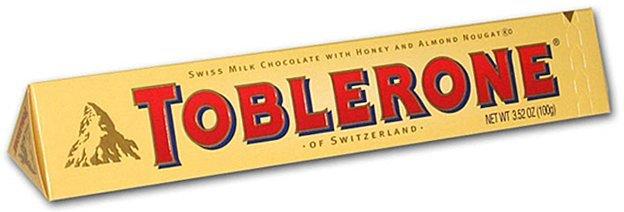 Chocolate, Toblerone® Swiss Milk Chocolate with Honey (3.52 oz Bar)