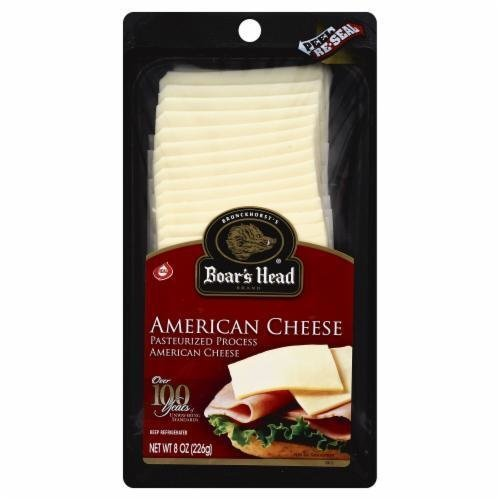 Deli Cheese, Boar's Head® Sliced White American Cheese (8 oz Bag)