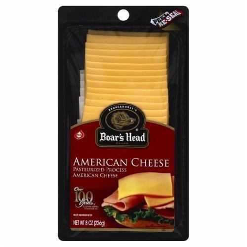 Deli Cheese, Boar's Head® Sliced Yellow American Cheese (8 oz Bag)
