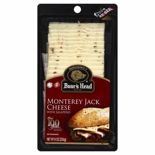 Deli Cheese, Boar's Head® Sliced Monterey Jack with Jalapeño Cheese (8 oz Bag)