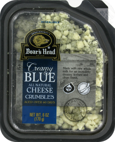 Deli Cheese, Boar's Head® Crumbled Blue Cheese (6 oz Tray)