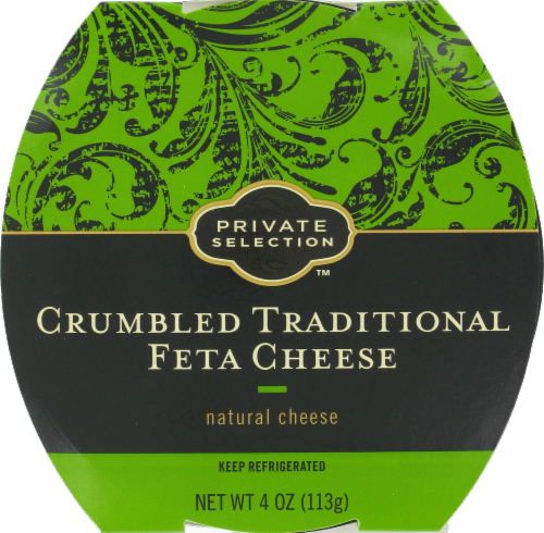 Crumbled Cheese, Private Selection® Crumbled Traditional Feta Cheese (4 oz Tray)