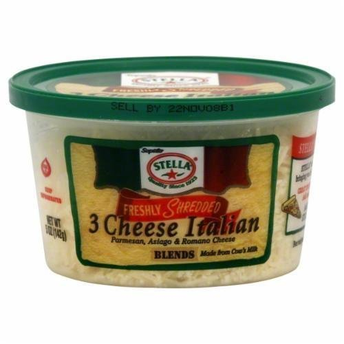 Shredded Cheese, Stella® Shredded 3 Cheese Italian Cheese (5 oz Tub)
