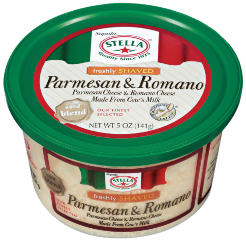 Shaved Cheese, Stella® Shaved Parmesan Romano Cheese (5 oz Tub)