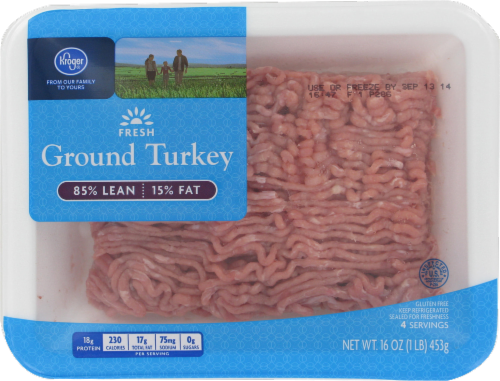 Ground Turkey, Kroger®, Ground Turkey 93% Lean (1 lb Tray)