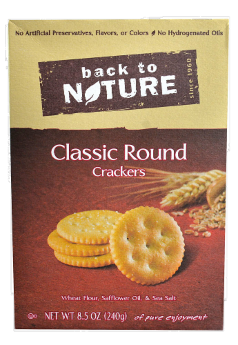 Trail Mix, Back To Nature® Classic Round Crackers (8.5 oz  Box)