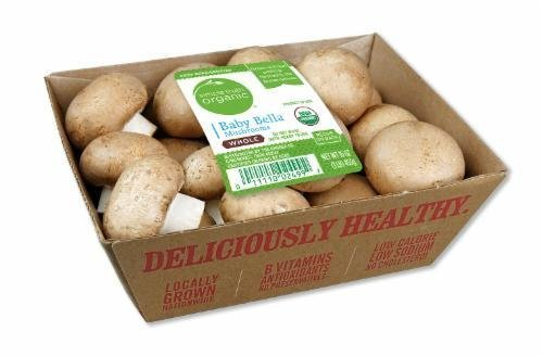 Fresh Mushrooms, Simple Truth Organic™ Whole Baby Portabella Mushrooms (16 oz Tray)