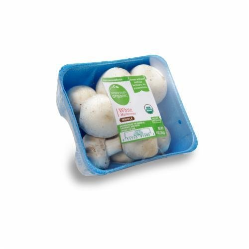 Fresh Mushrooms, Simple Truth Organic™ Whole White Mushrooms (8 oz Tray)