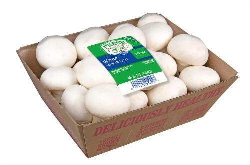 Fresh Mushrooms, Fresh Selections® Whole White Mushrooms (16 oz Tray)