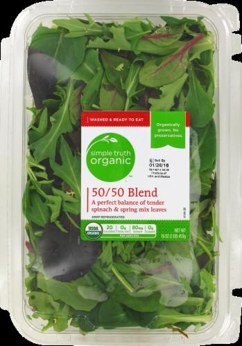Fresh Salad Greens, Simple Truth Organic™ 50/50 Blend Lettuce (16 oz Tray)